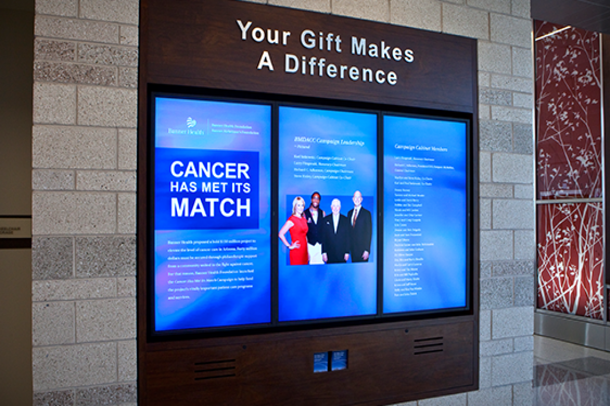 Donor Walls - Data Driven Signage for your Organisation